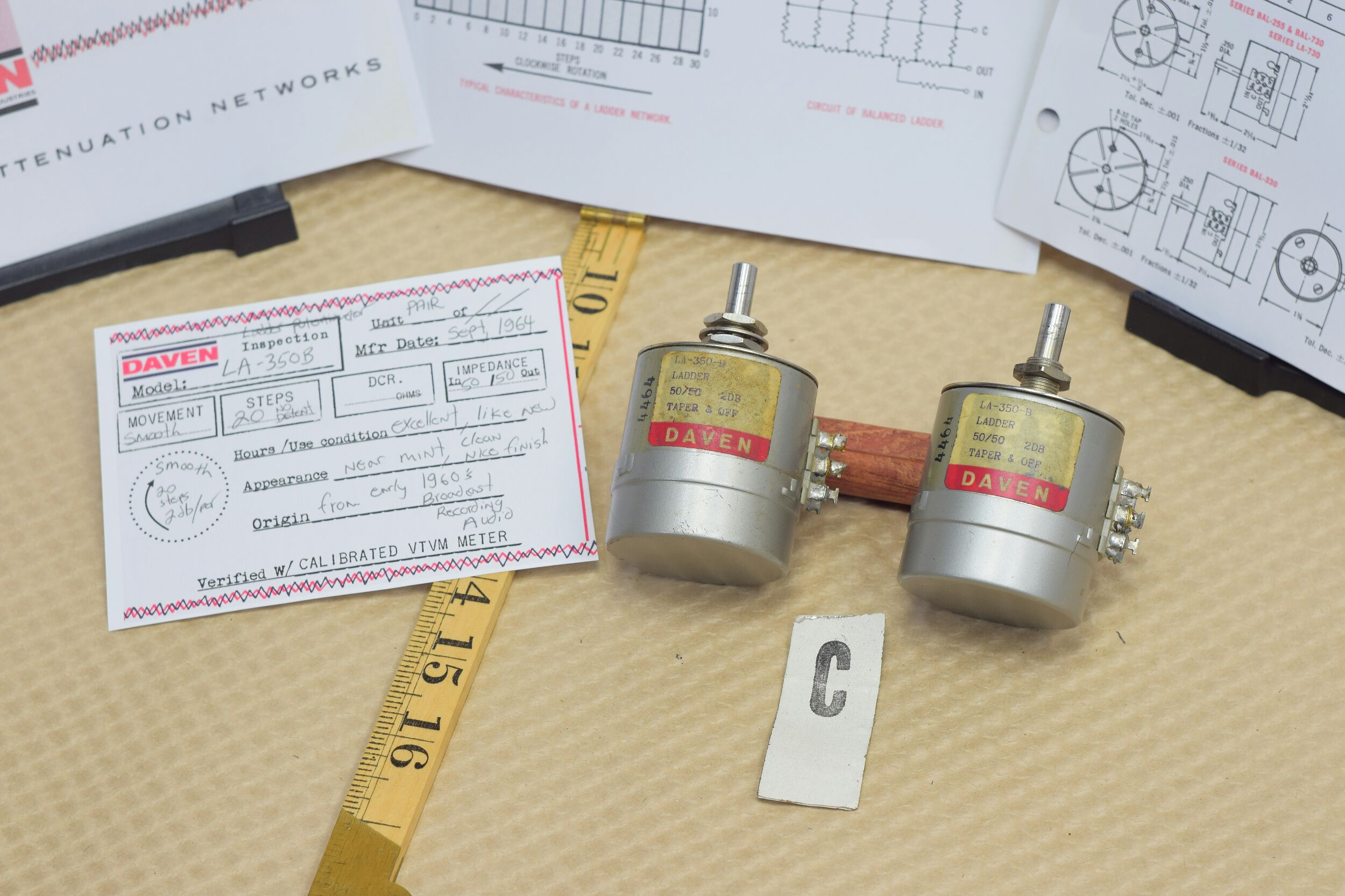 The Daven Company Potentiometers for audio attenuation from