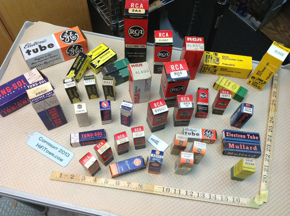 Original USA made audio tubes 1920s through 1960s
